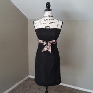 Shoshanna Strapless Dress with Embroidered Belt